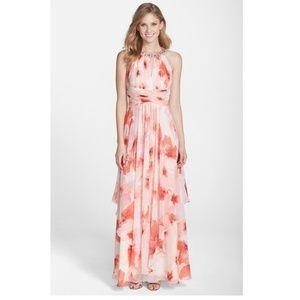 Eliza J - Embellished Floral Print Gown (size 2P)